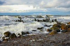 Балтийское море в осени Стоковое Изображение