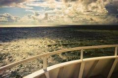Балтийское море от палубы парома Стоковые Изображения RF