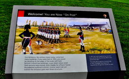 Балтимор, MD: Знак McHenry форта Стоковые Фото