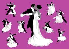 Бальные танцы. бесплатная иллюстрация