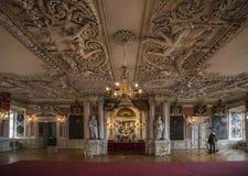 Бальный зал в замке Friedenstein Стоковые Изображения RF