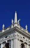 Балюстрада библиотеки Венеции St Mark Стоковая Фотография RF
