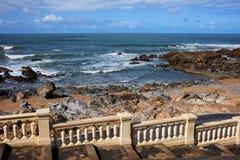 Балюстрада побережья океана Стоковая Фотография