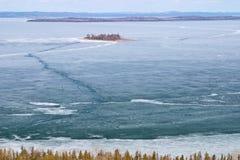 Бдительность в зиме, остров 10 миль Manitoulin, Канада Стоковые Фото