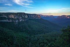 Бдительность кургана, голубые горы национальный парк, Австралия стоковое фото rf