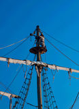 бдительность наблюдающ разведчиком пирата Стоковое фото RF