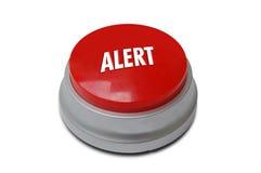бдительный красный цвет кнопки стоковое изображение