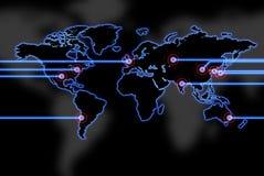 бдительный мир карты зарева Стоковые Изображения RF