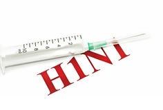 бдительный шприц swine гриппа h1n1 красный Стоковое фото RF