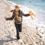 бега девушки Стоковая Фотография RF