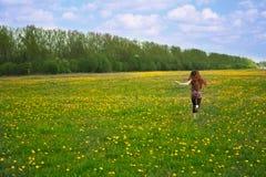 бега девушки Стоковые Изображения RF