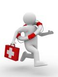 бега доктора помощи к Стоковая Фотография
