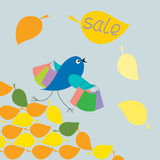 Бега птицы с сбыванием покупкы бесплатная иллюстрация