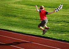 беговая дорожка мальчика Стоковое Изображение