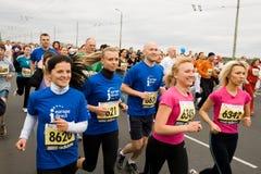 бегунки марафона Стоковые Фотографии RF