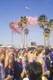 Бегунки на старте марафона Los Angeles Стоковое Изображение RF