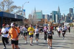 бегунки 2010 nyc марафона Стоковое Изображение