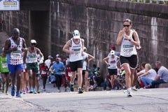 10 бегунов состязаясь в товарищах Ультра Марафоне Стоковое Фото