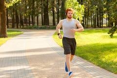 Бегунок в парке Стоковое фото RF