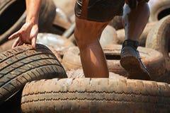 Бегуны гонки грязи Стоковые Изображения RF