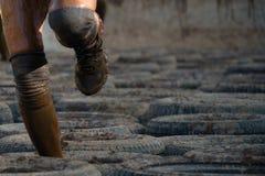 Бегуны гонки грязи Стоковое Изображение RF