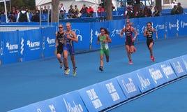 Бегуны на триатлоне Стоковое Фото