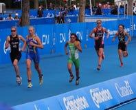 Бегуны на триатлоне Стоковые Изображения RF