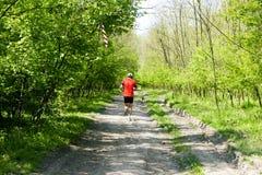 Бегун в лесе Стоковое Фото