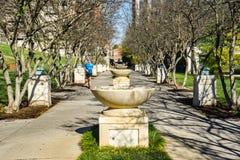 Бегун на строке фонтана на парке Elmwood, Roanoke, Вирджинии, США - 3 стоковое изображение rf