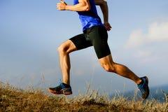 Бегун спортсмена ног мужской Стоковые Изображения