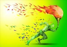 Бегун с олимпийским пламенем Стоковые Фото