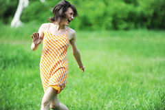 бег девушки Стоковые Изображения RF
