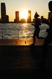 Бег захода солнца Стоковые Фотографии RF