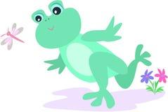 бег лягушки Стоковое Изображение
