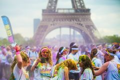 Бег Париж цвета Стоковое Фото