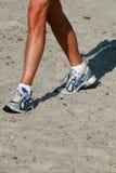 бег пляжа Стоковые Фото