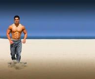 бег пляжа Стоковое Фото