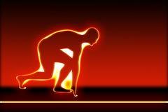 бег подготовки персоны Стоковая Фотография