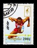 Бег с препятствиями, Олимпиады лета 1996, Atlantaserie, около 1996 стоковая фотография rf