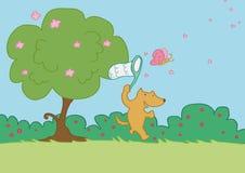 бег травы лисицы счастливый Стоковое Изображение
