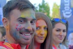 Бег 2017 цвета в Бухаресте, Румынии стоковые изображения rf