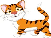 Бег шаржа тигра Стоковое Изображение