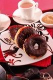бег donuts стоковая фотография