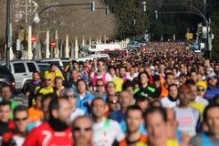 бег 5K Стоковые Фото