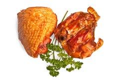бедренные кости курят цыпленком, котор стоковая фотография