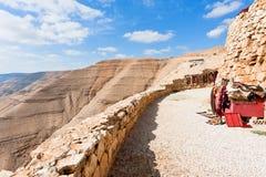 бедуин carpets стена горы Иордана каменная Стоковые Фотографии RF