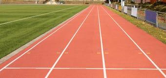 бежать атлетических Спорт линии стадион стоковые изображения