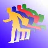 бежать бизнесменов Стоковое фото RF