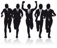 бежать бизнесменов Стоковое Изображение
