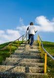 Бежать вверх холм Стоковые Изображения